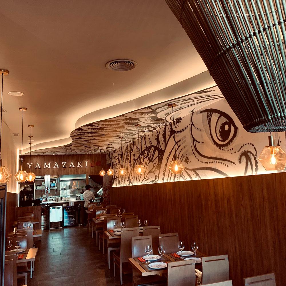 Interior restaurante japonés Yamazaki Sevilla