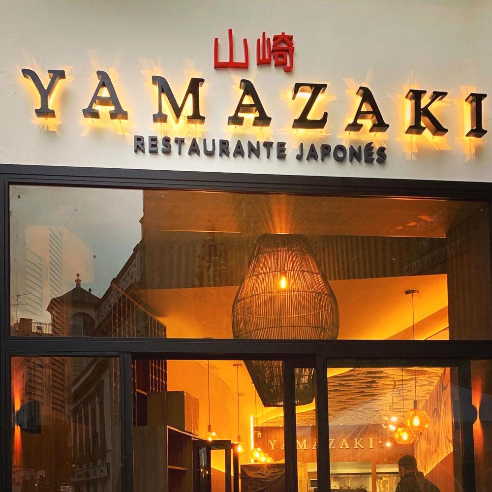Fachada restaurante japonés Yamazaki